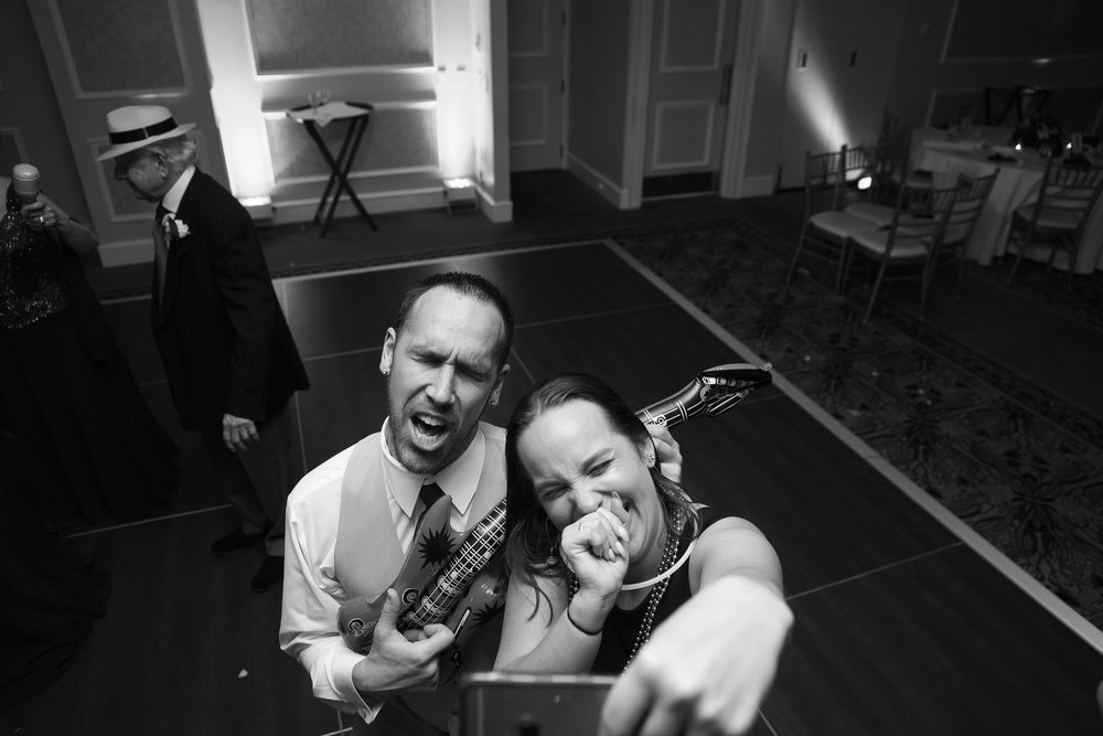 Epic dance floor selfie at Manor Country Club rockville wedding