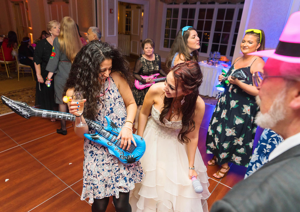 Blow up air guitar at Rockville maryland wedding reception