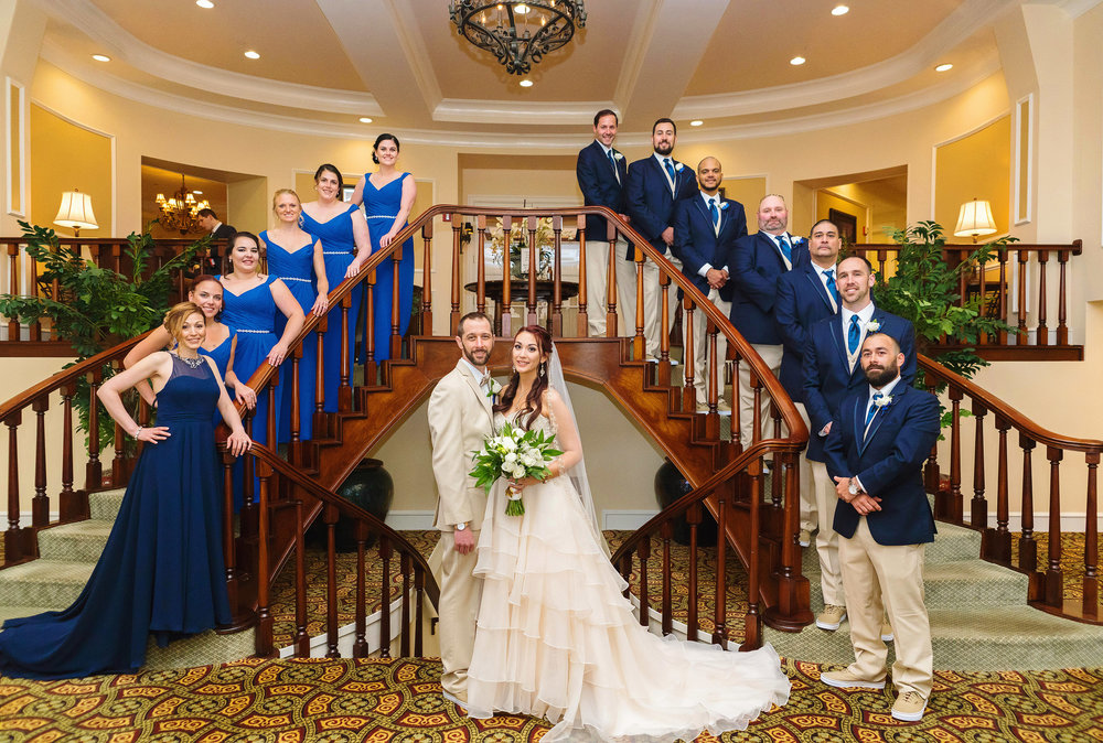 bridal party at the Manor Country Club and Golf Course Rockville
