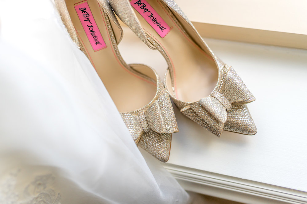 Betsey Johnson bridal shoes heels at tysons corner