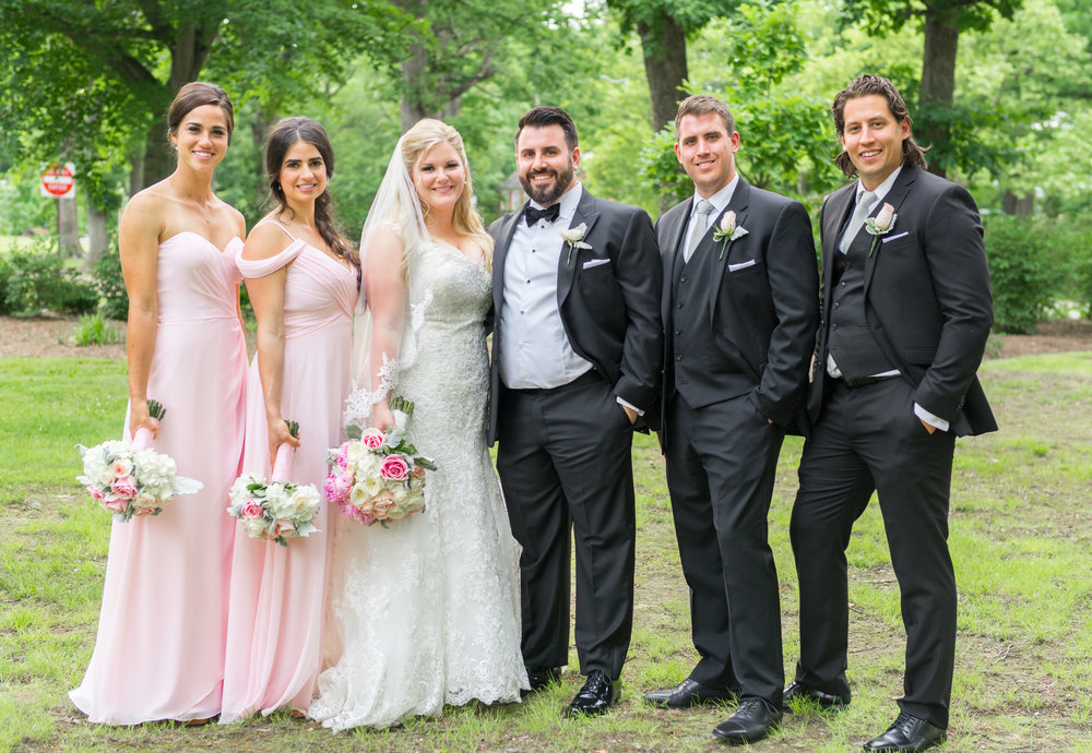 Bridal party at Fort Belvoir summer wedding
