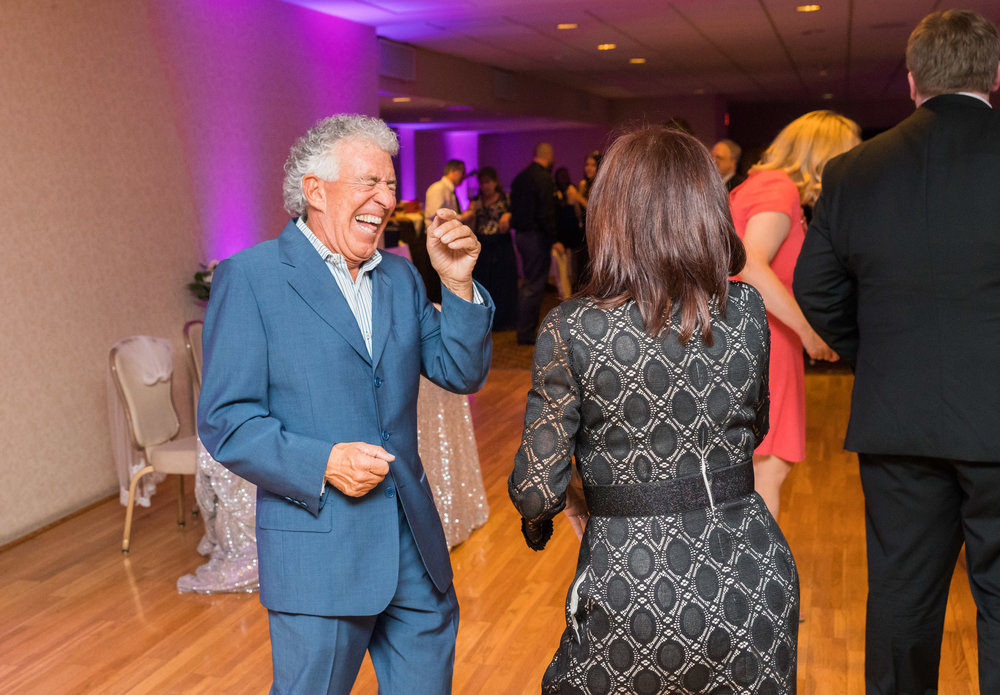 Guests having fun at a virginia wedding