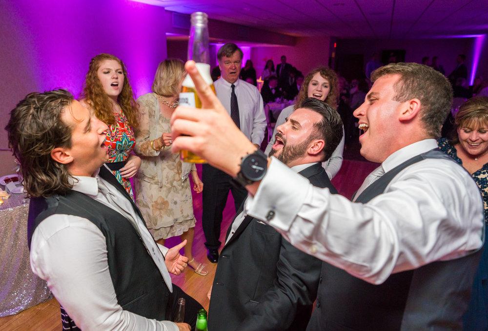 Wedding reception photos at Fort Belvoir Virginia Officer's Club