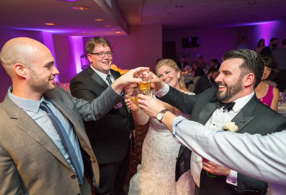 Fort Belvoir Officer's Club wedding photos at reception