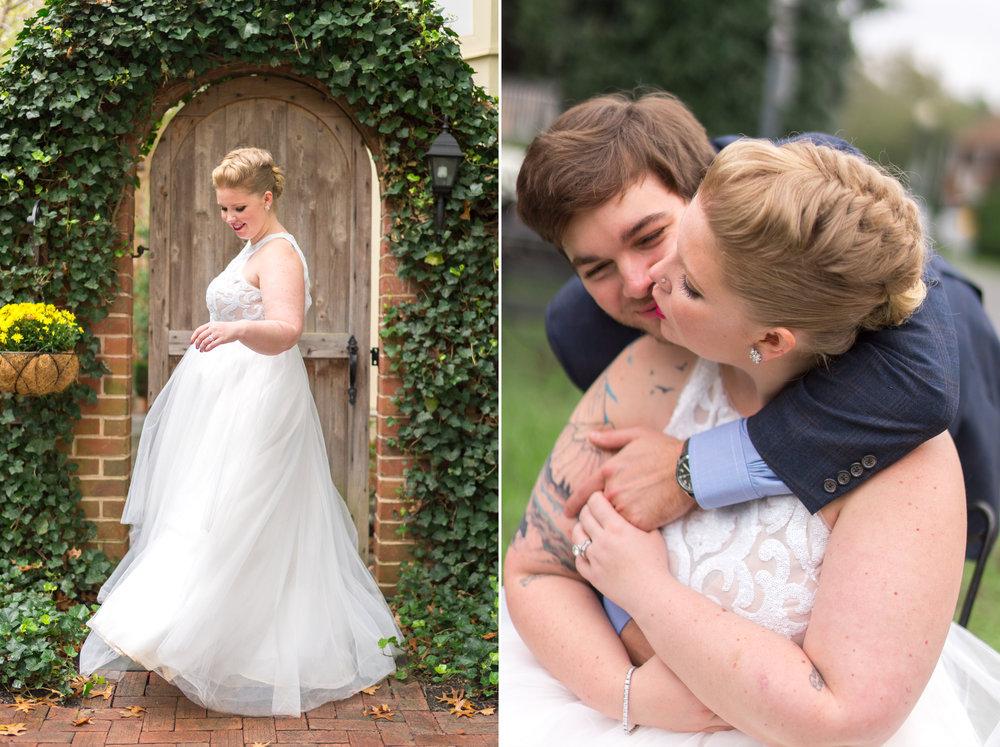 Washington DC wedding portraits of bride and groom