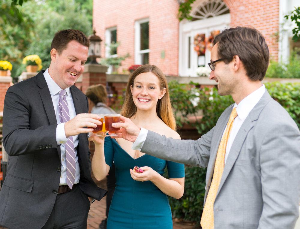 Summer lawn wedding reception at Kentlands Mansion in Maryland