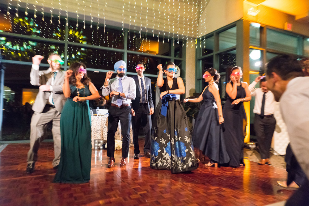 Choreographed flash mob dance wedding photos