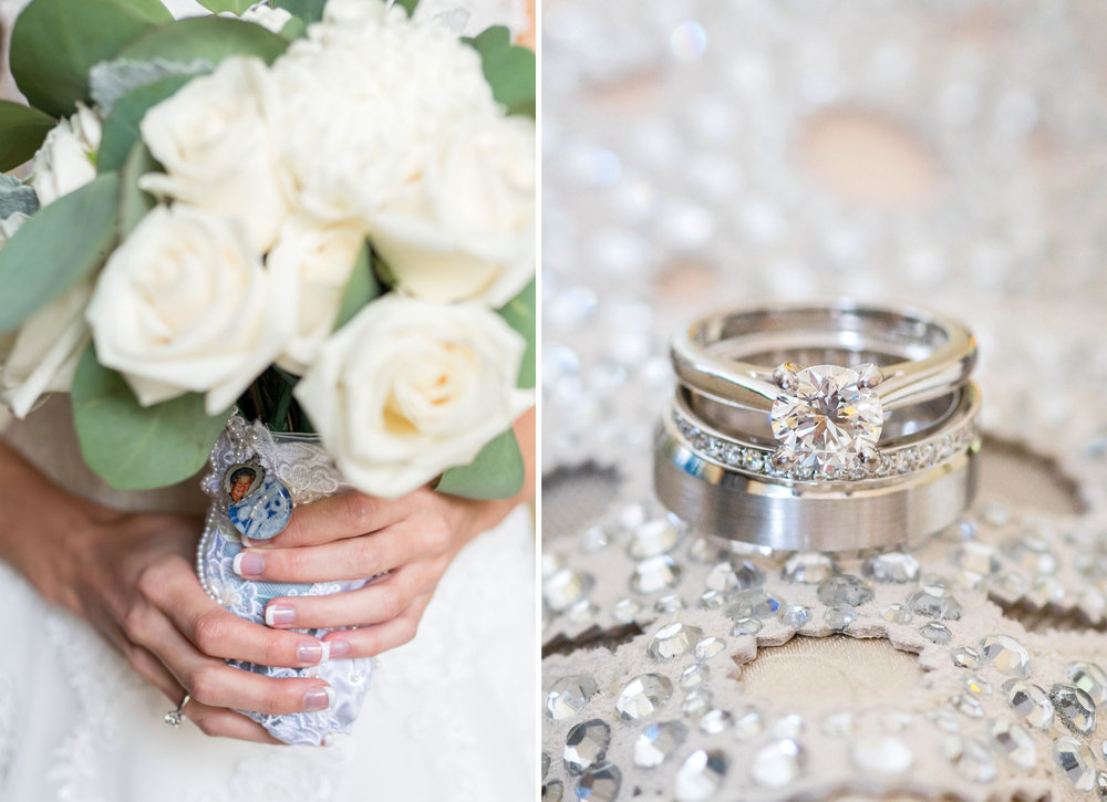 Gorgeous details and rings at Leesburg winery