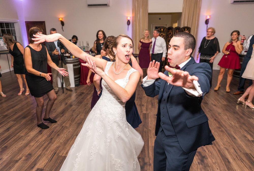 Bride and groom reception dancing in Leesburg VA