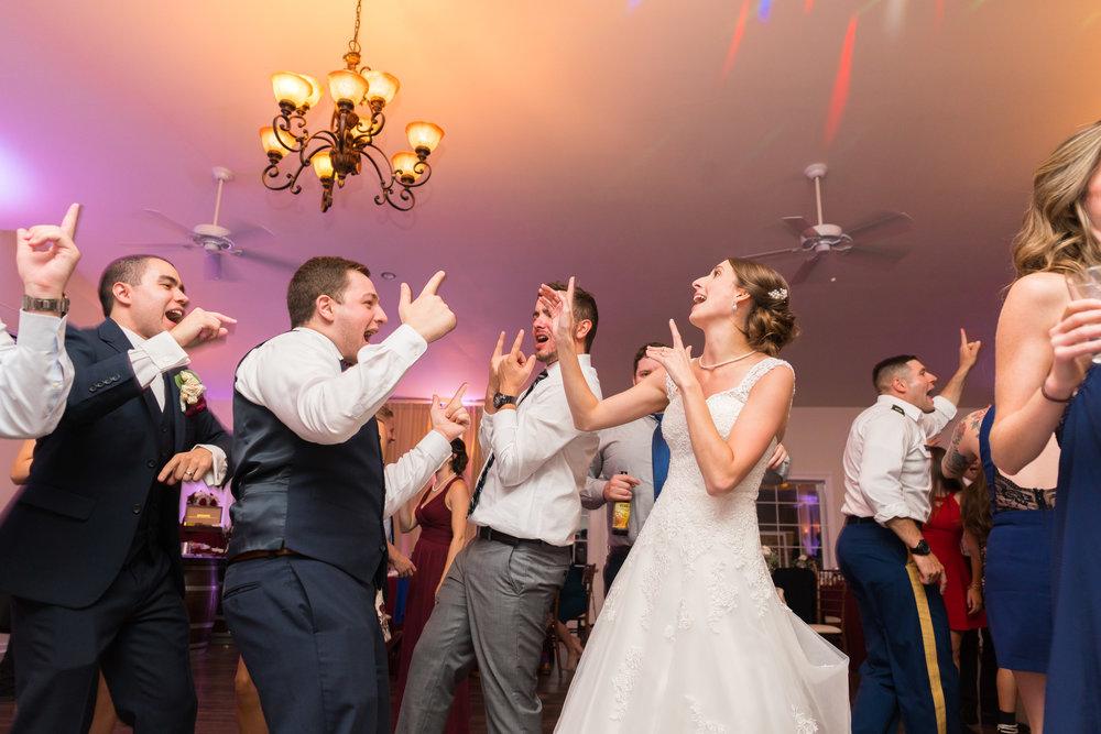 Documentary wedding photography on the dance floor