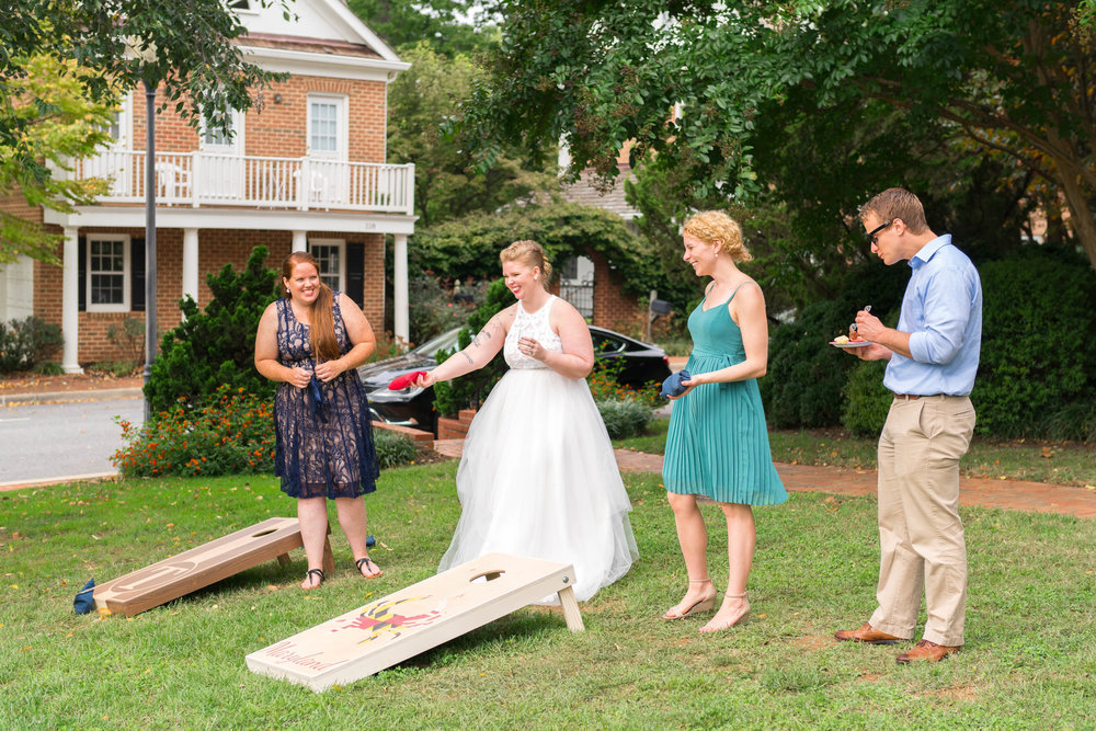 Lawn games for Kentlands Mansion wedding in fall