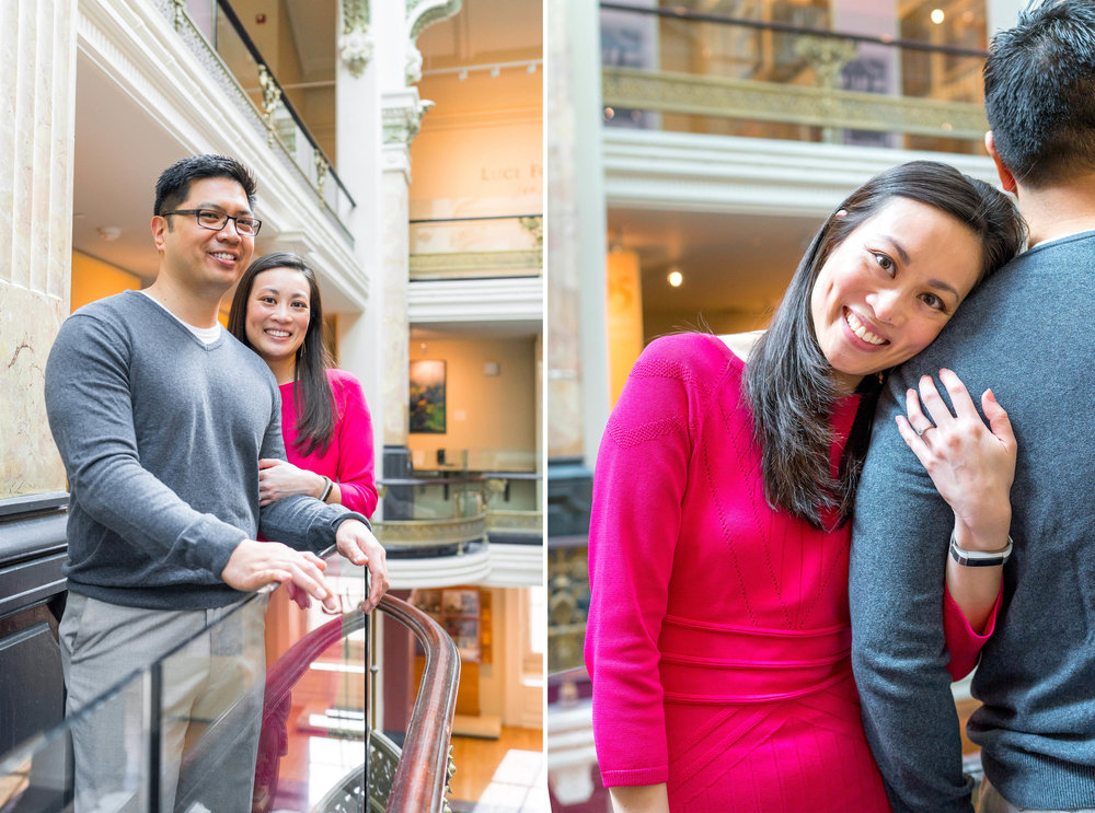 Engagement session in the west wing of the national portrait gallery
