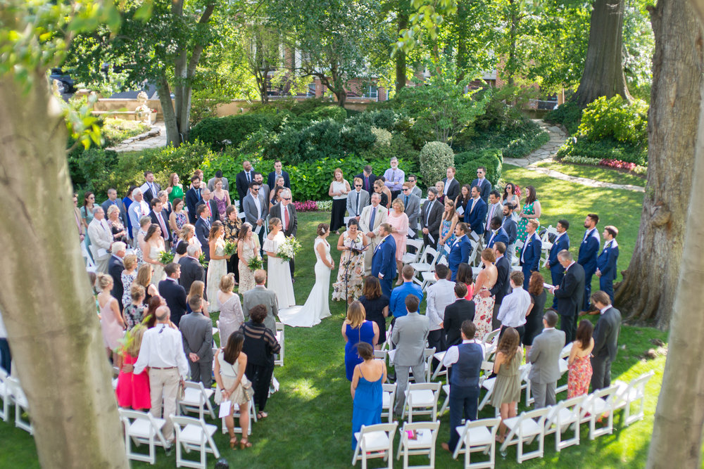 Meridian House outdoor ceremony photos summer wedding by Jessica nazarova