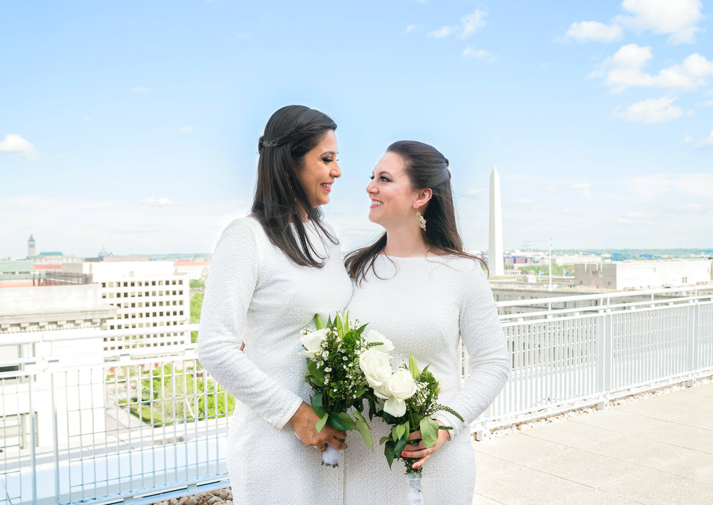Gay rooftop wedding in Washington DCSummer wedding at Meridian House by Jessica Nazarova