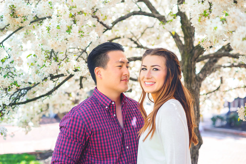 Cherry blossom washington dc annapolis engagement photos