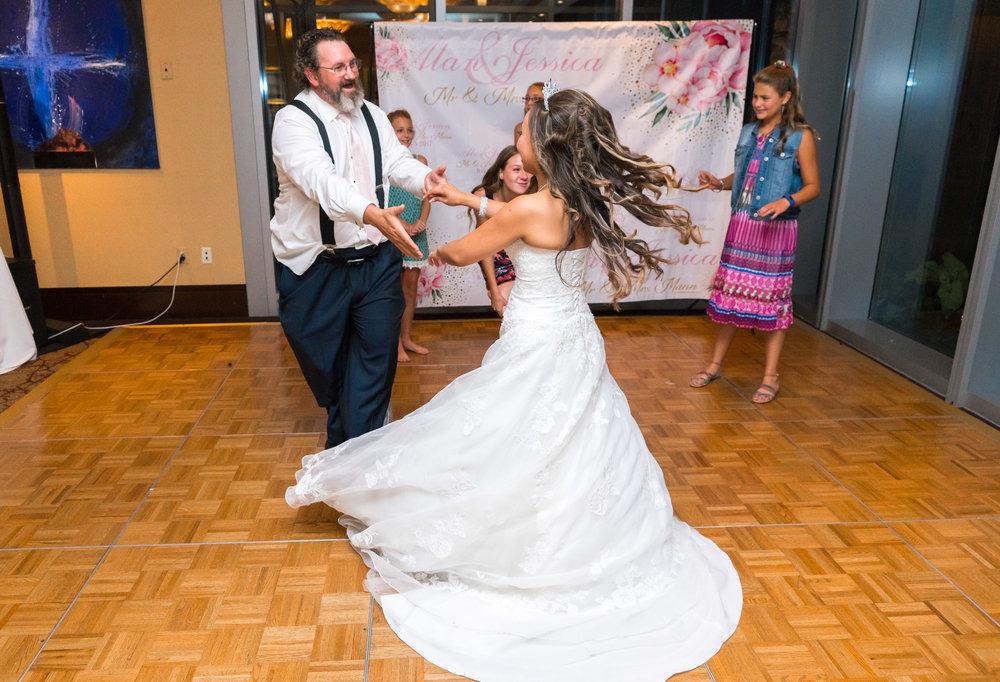 Dancing reception at 2941 restaurant
