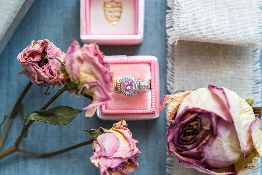 The Mrs Box in Gwynevere pink with ring by jessica nazarova