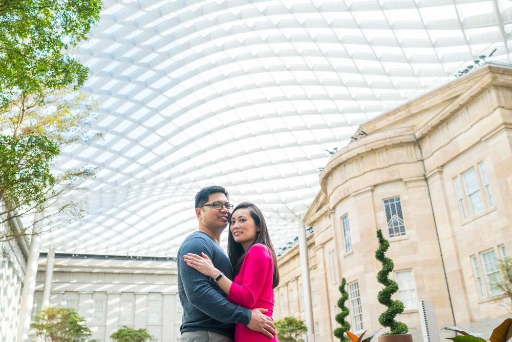 atrium Washington DC engagement photos