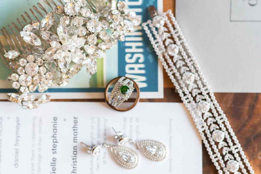 Wedding details photography at dupont circle hotel