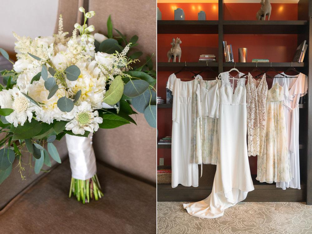 Bride and bridesmaids getting ready at Dupont circle hotel