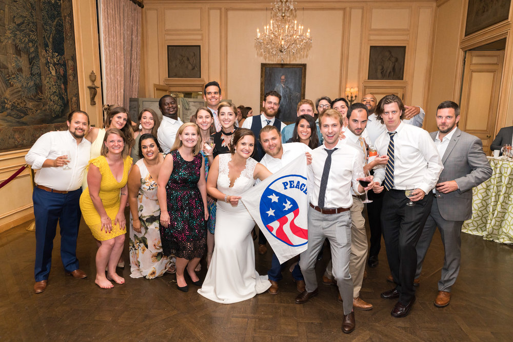 Peace Corps group wedding photo at Meridian House
