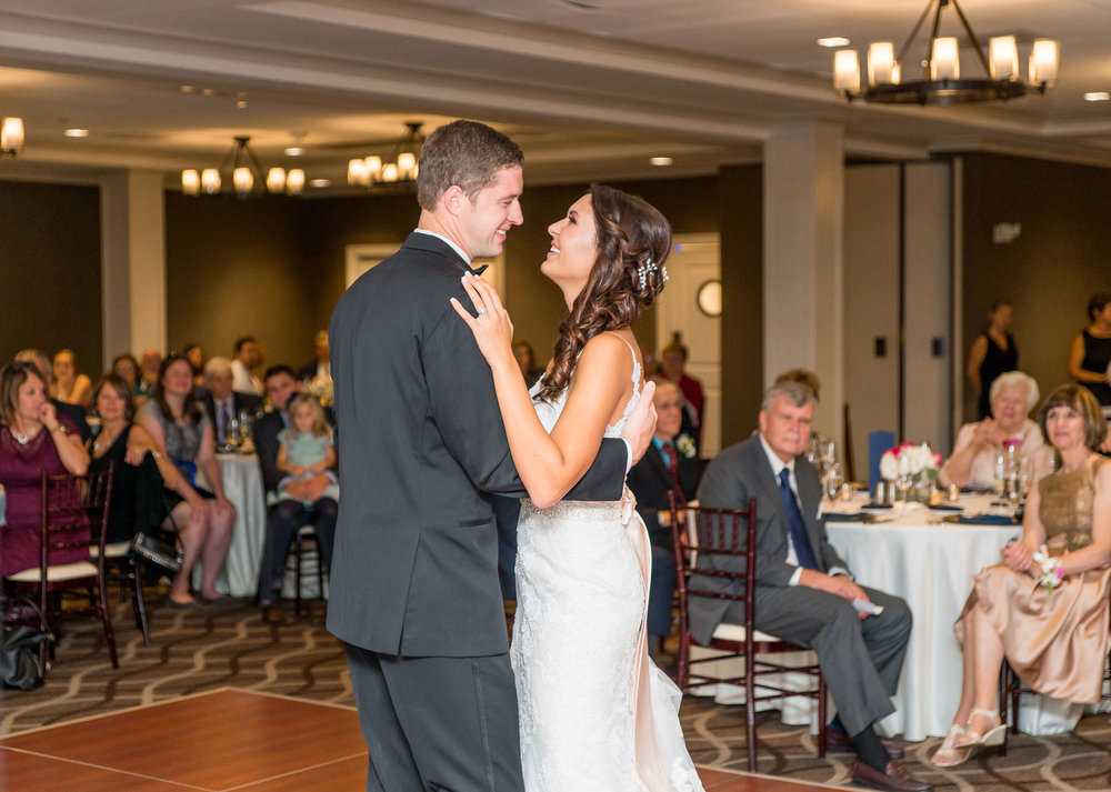 first dance reception room photos at chantilly golf course wedding
