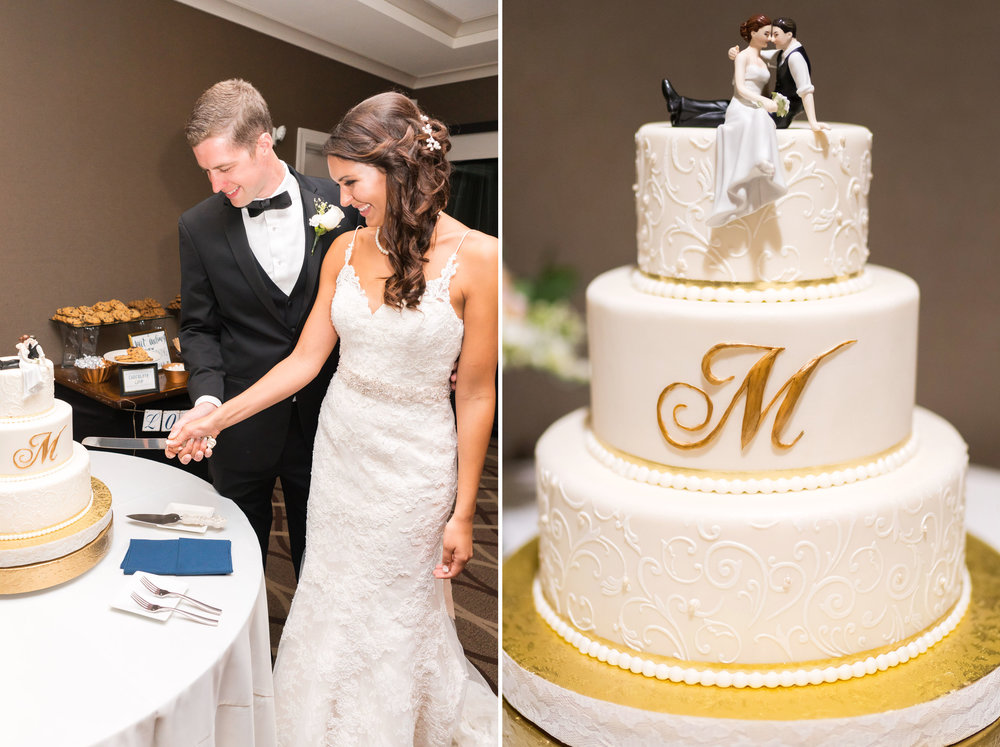Beautiful cake cutting wedding photography in virginia