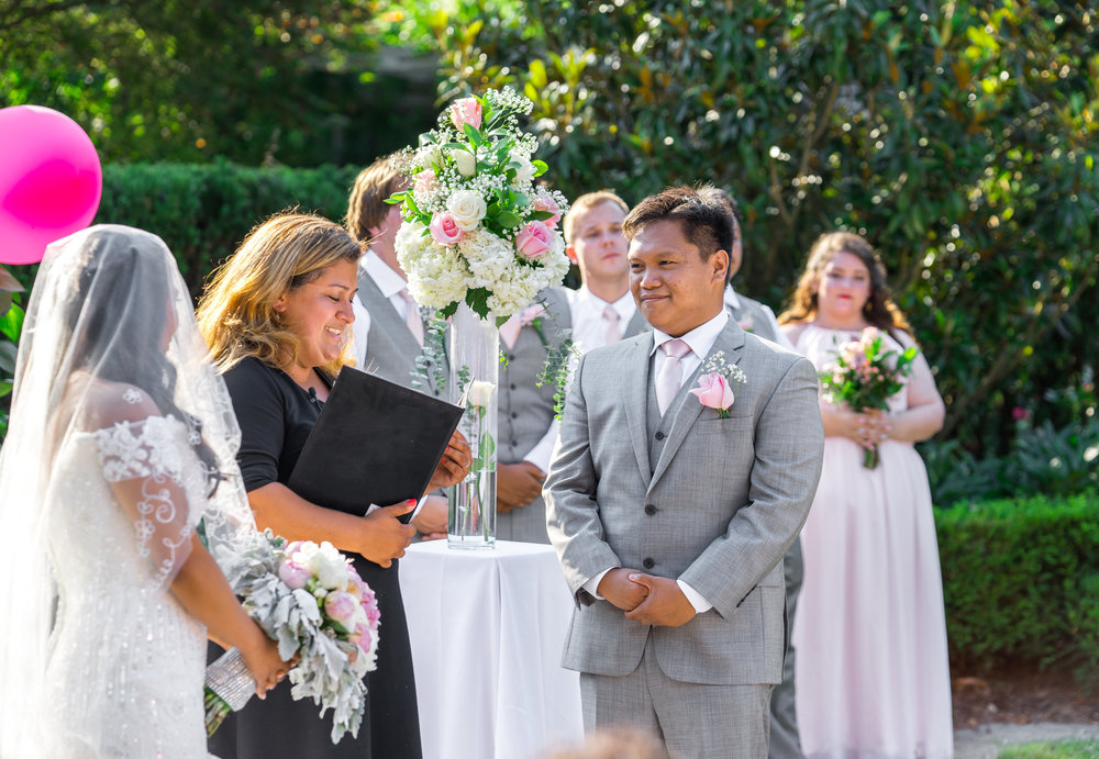 Brookside Garden wedding ceremony in June