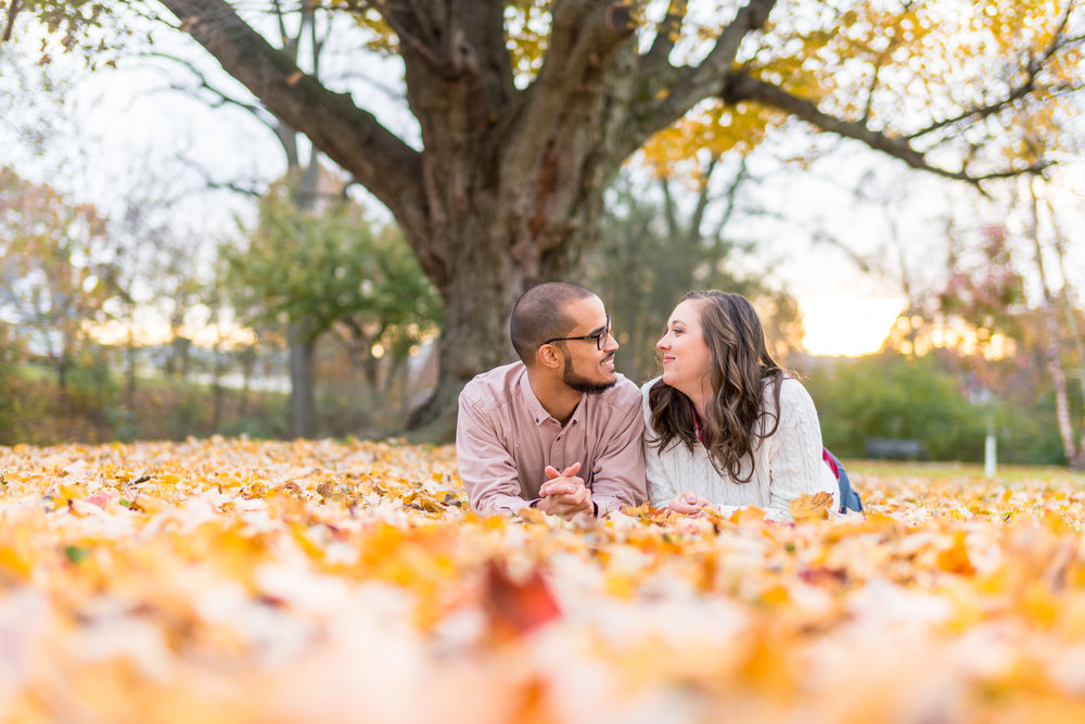 Autumn photos for engagement Frederick