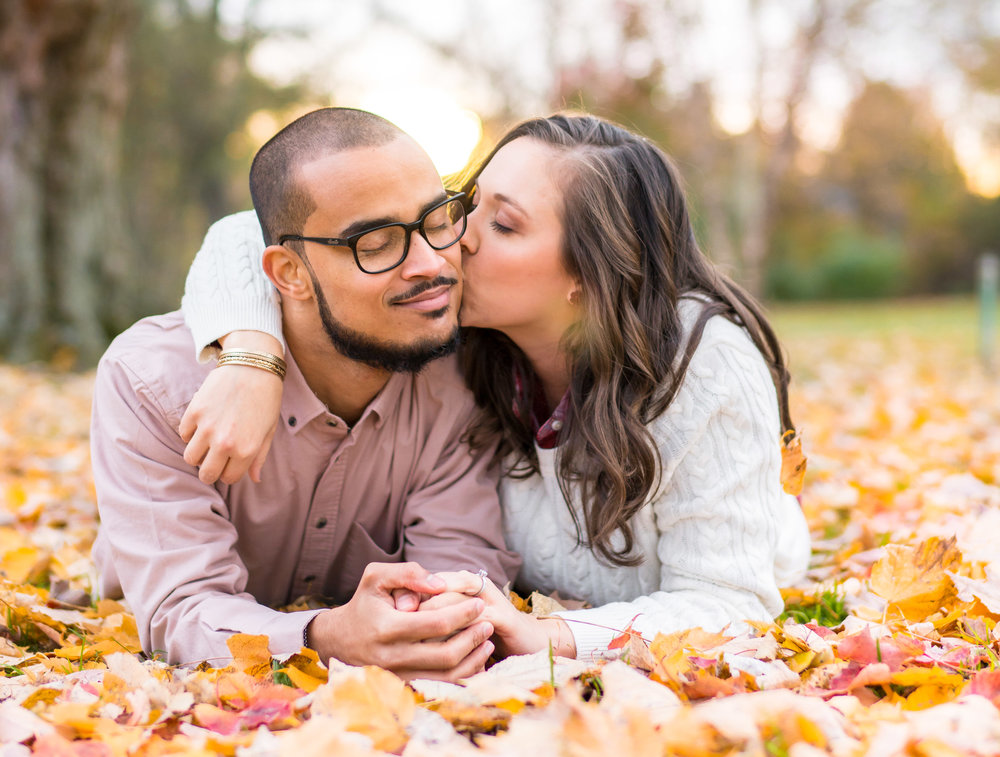 Fall engagement session in Frederick Maryland