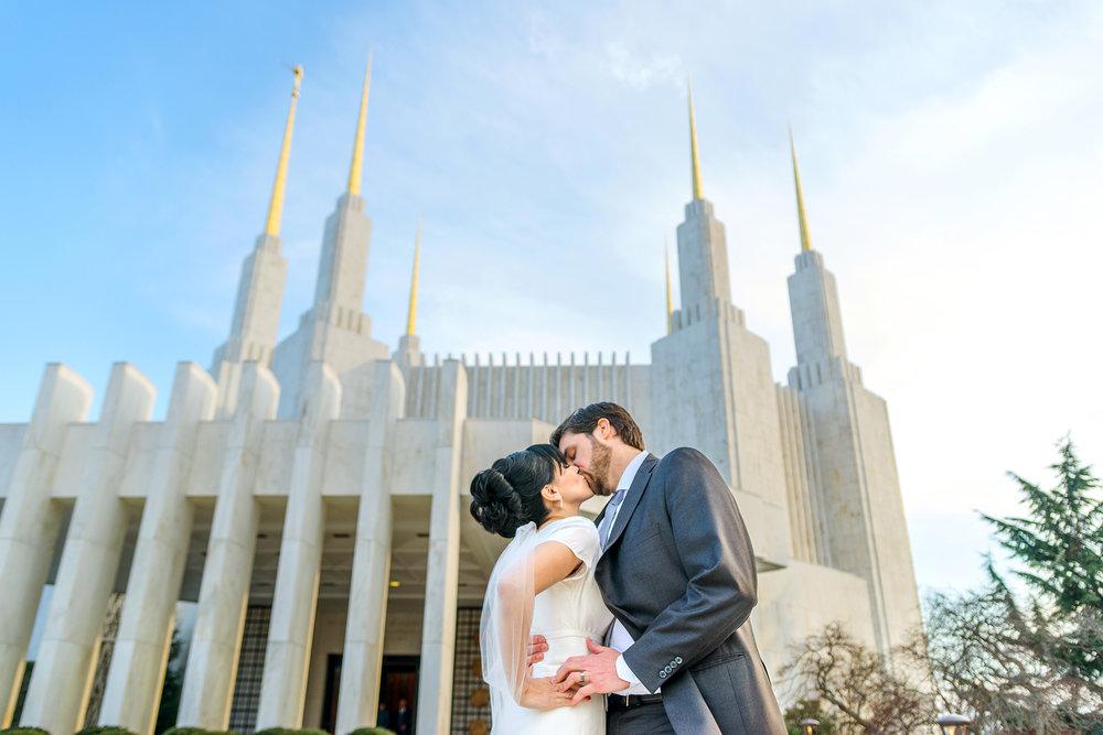 Washington DC LDS temple wedding photos
