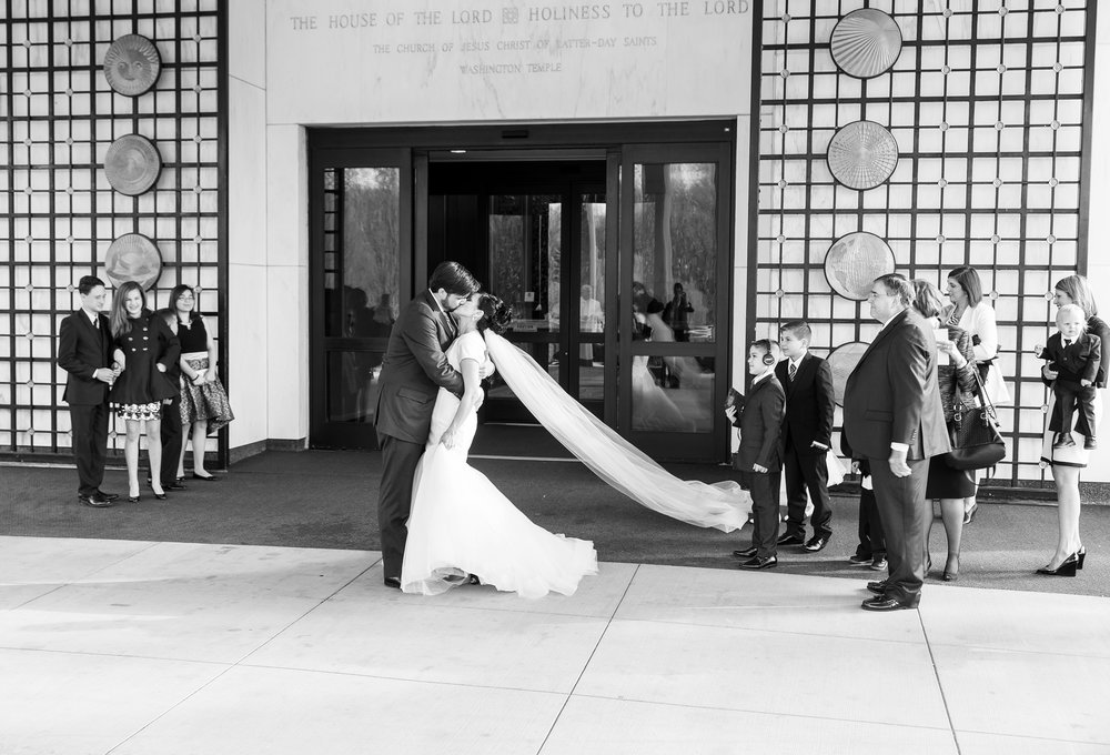 Washington DC LDS temple bride and groom photography