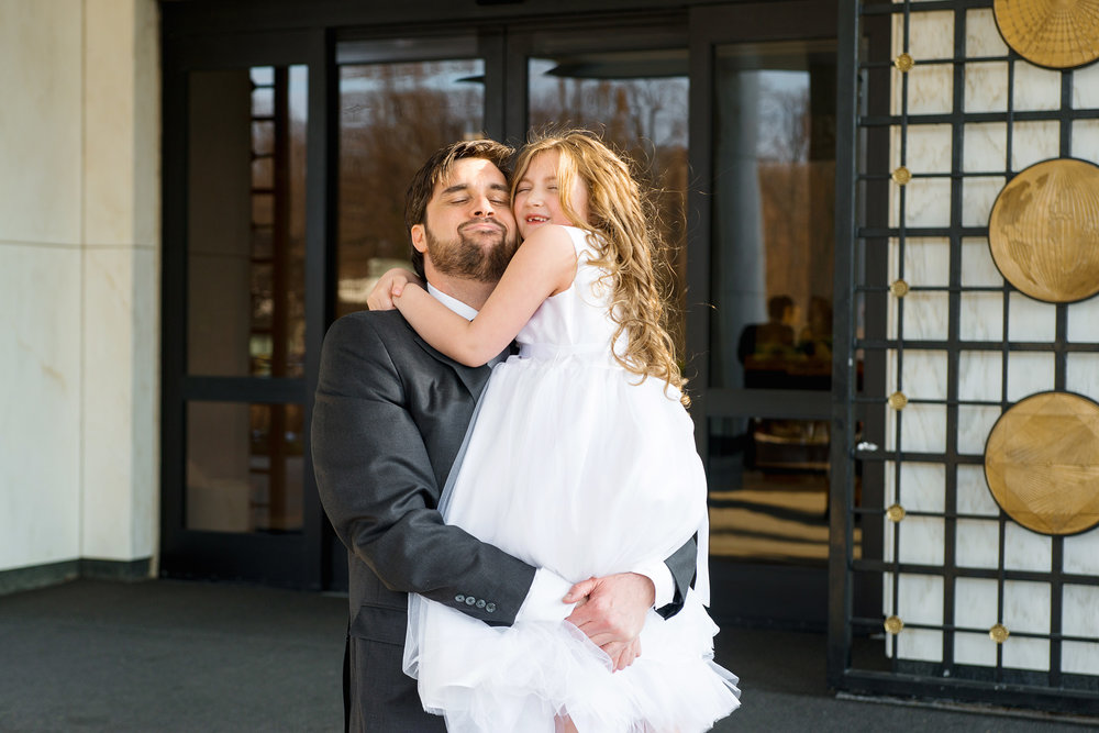 Wedding photos of Mormon temple in DC