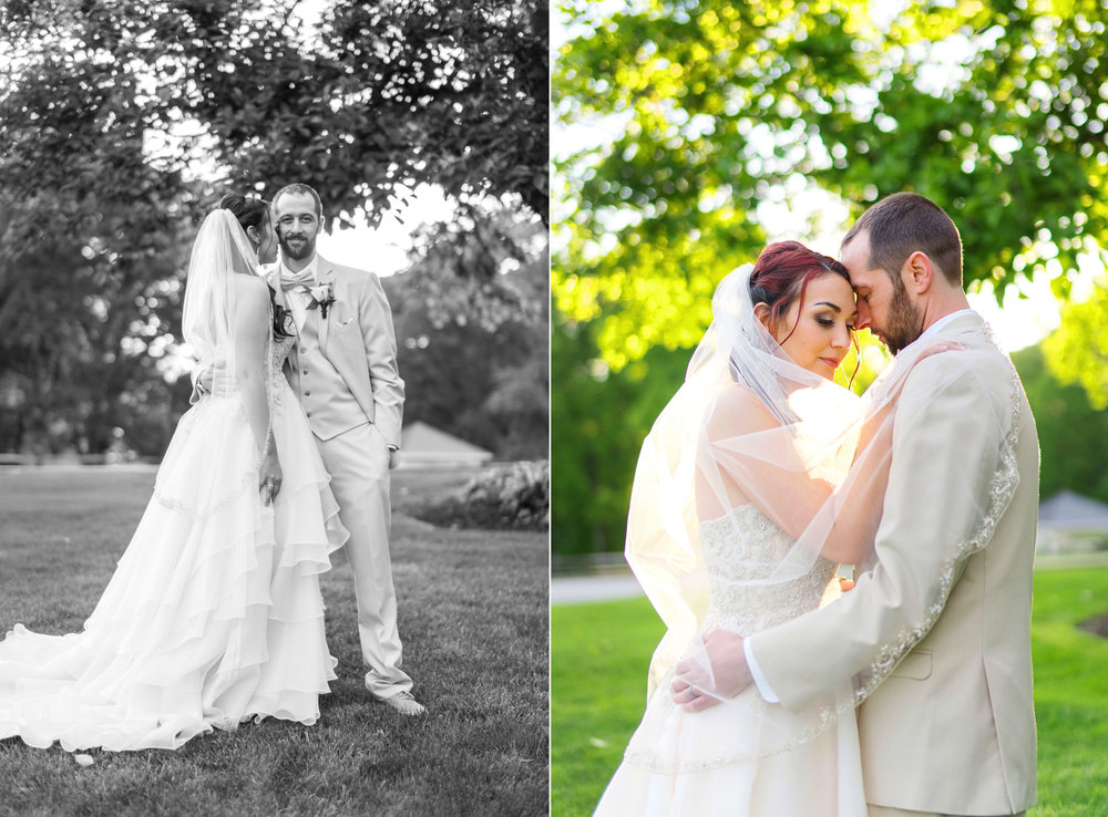 Bride and groom photos at Manor Country Club wedding
