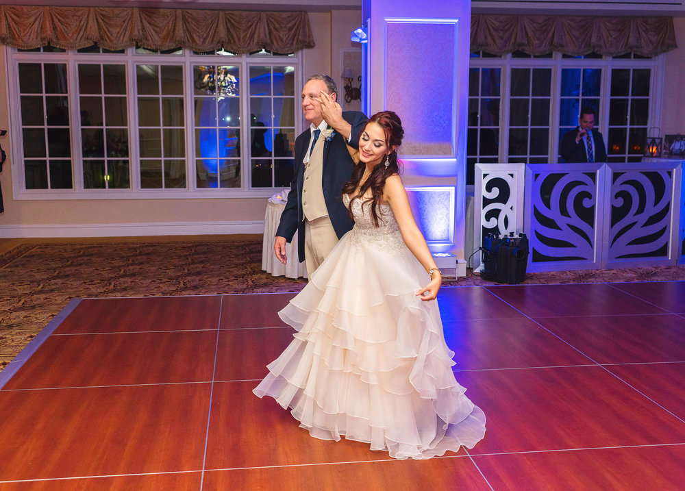 Father daughter dance at rockville maryland wedding
