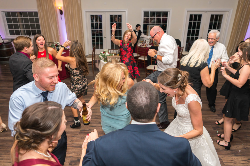 Bride dancing with her friends at Leesburg wedding