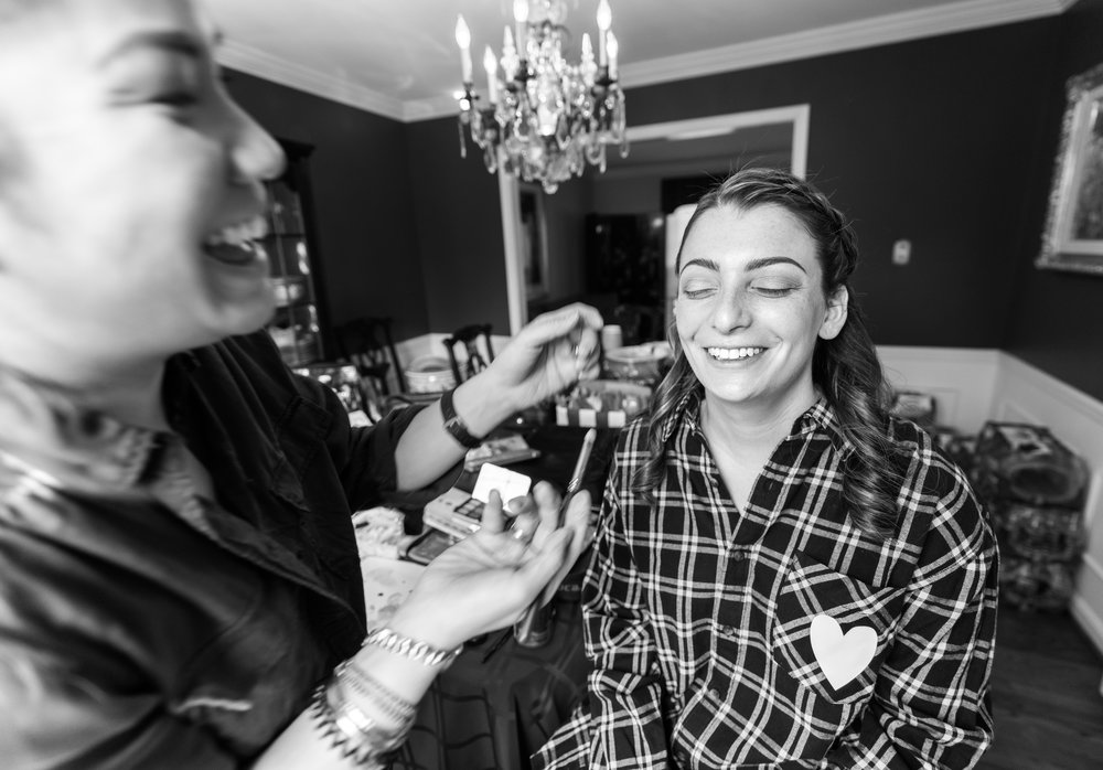 Bride getting ready in Chevy Chase Maryland