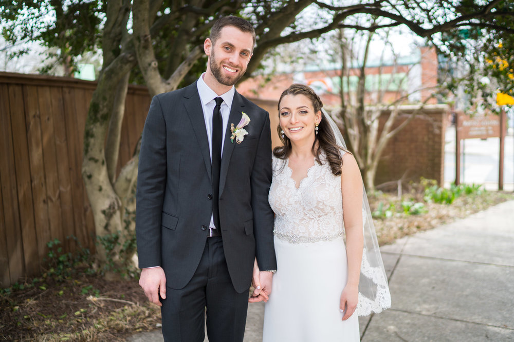 Bride and groom portraits in Chevy Chase Maryland wedding
