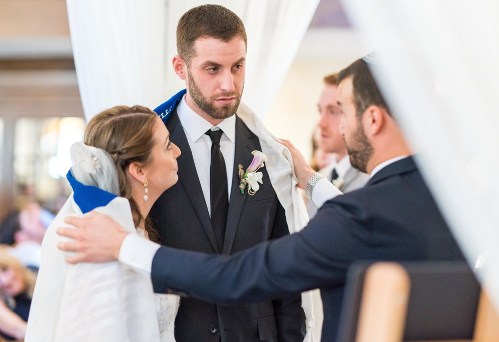 Jewish wedding wit rabbi in Chevy Chase Maryland