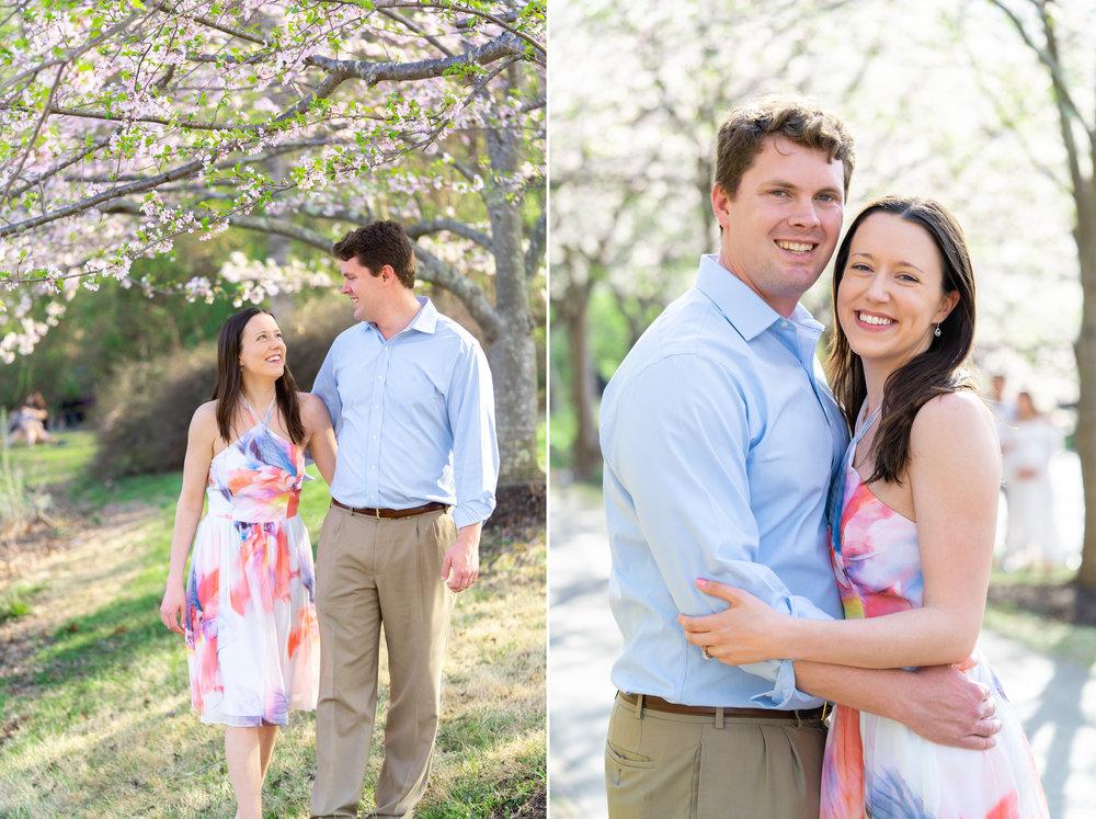 Engagement session at Meadowlark Botanic Gardens