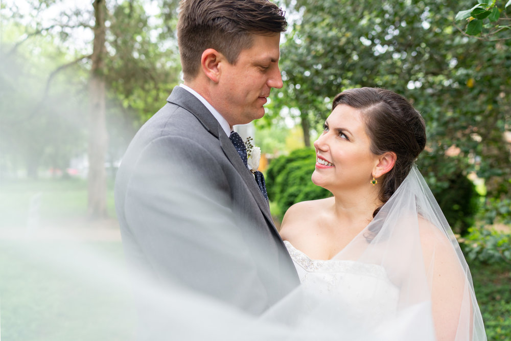 Summer wedding at Hendry House in Arlington Virginia