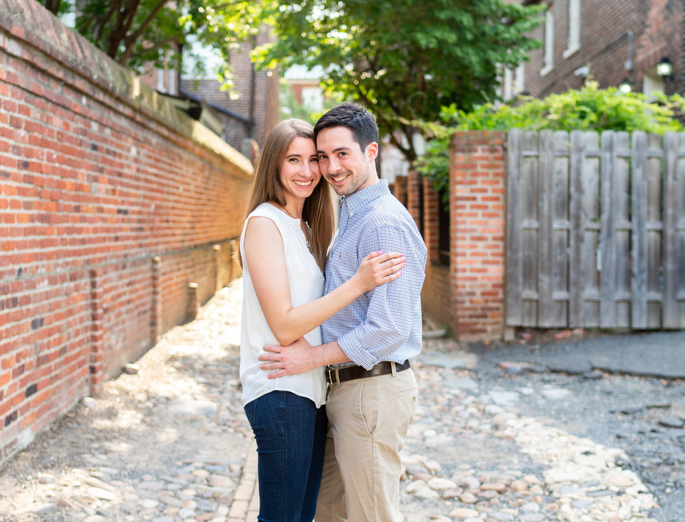 Wales Alley engagement session in Old Town Alexandria