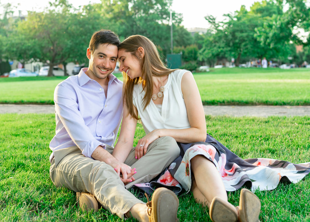 Engagement session at Founders Park in Alexandria Virginia