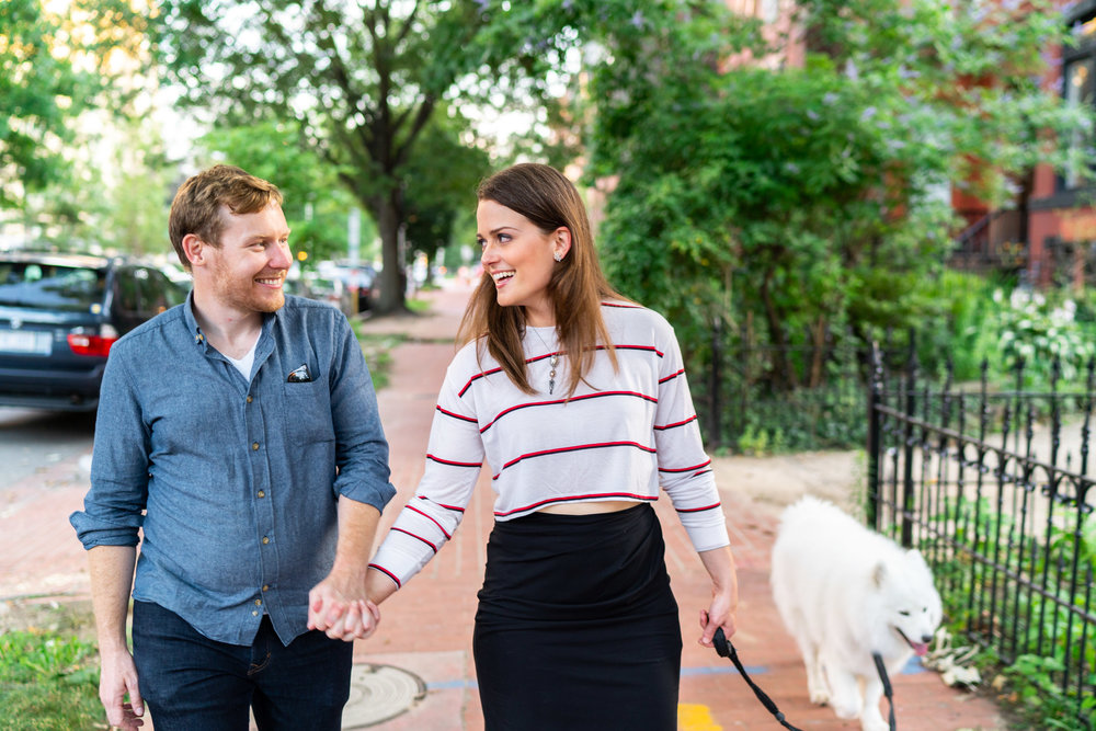 Washington DC Logan's Circle engagement session