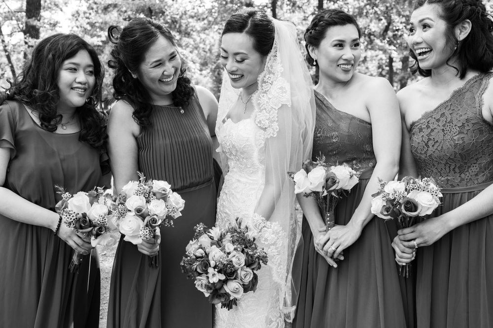 Sony a7riii wedding photography bride and bridesmaids laughing