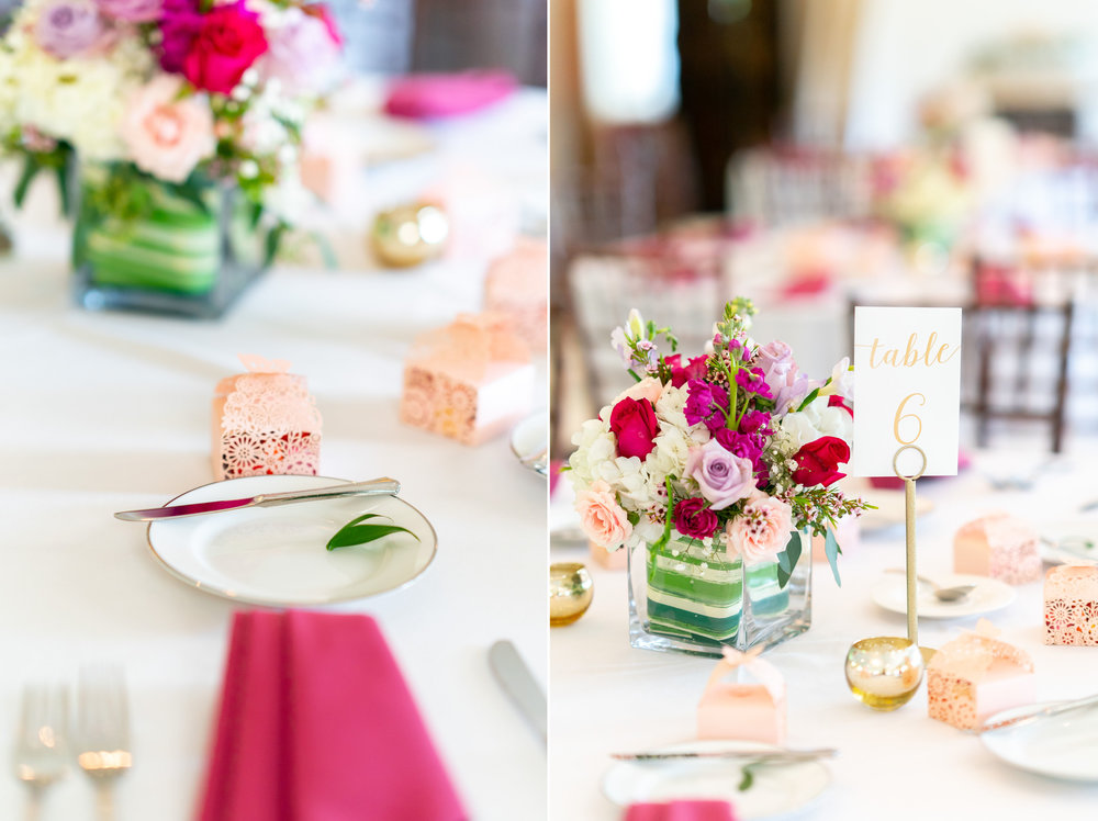 beautiful reception decor at Harvest House Lost Creek Winery wedding