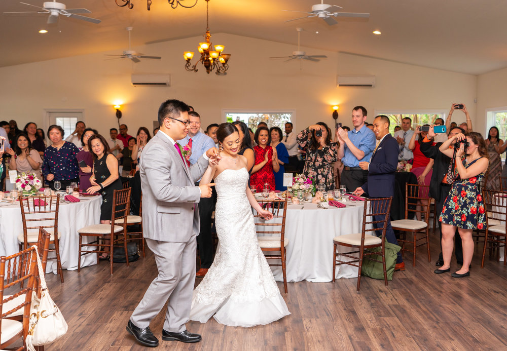 First dance at Chinese Filipino wedding at Harvest House at Lost Creek Winery