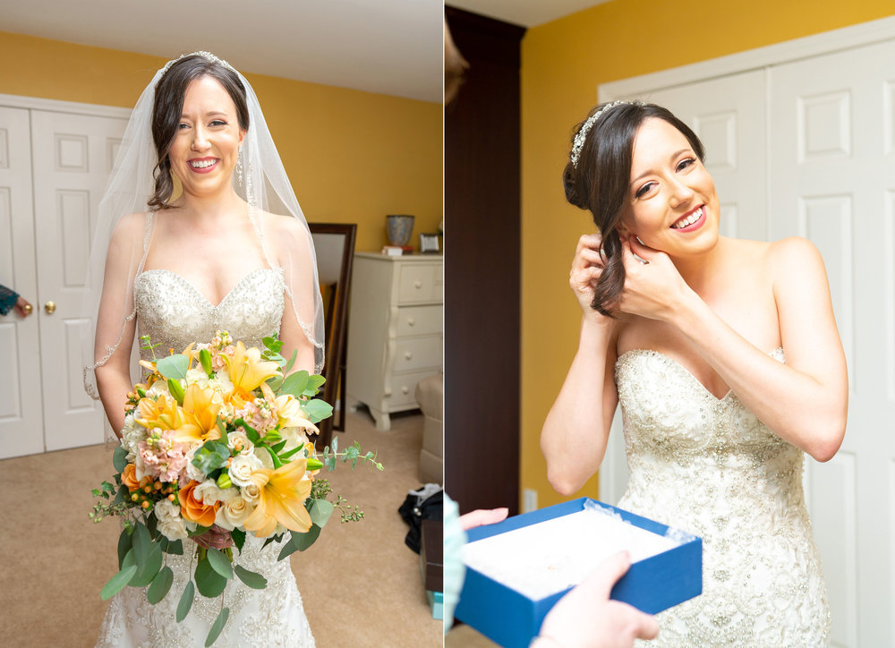 Bride in getting ready suite at Harvest House Lost Creek Winery