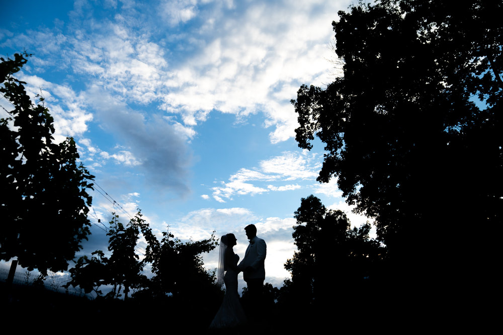 Dramatic sky at Harvest House at Lost Creek Winery wedding