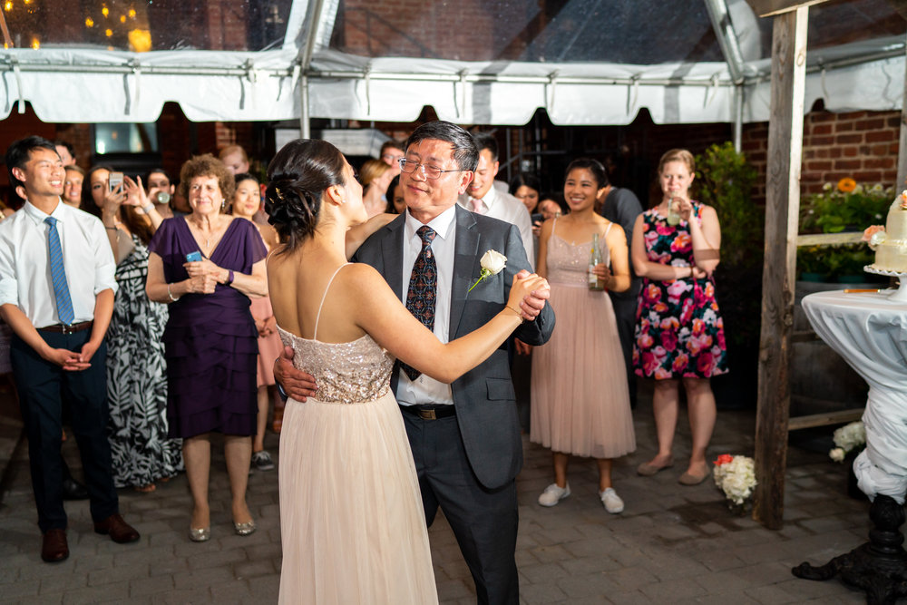 Father daughter dance with bride at Gallery O on H wedding